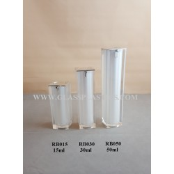 Acrylic Square Airless Bottle - 15ml to 50ml