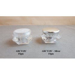 Diamond Shape Acrylic Jar - 15gm