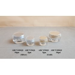 Square Acrylic Jar - 5gm & 10gm Type 1