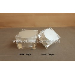 Acrylic Square Jar - 30gm, 50gm (PJ Series)