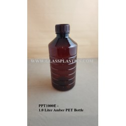1.0 Liter Amber PET Bottle