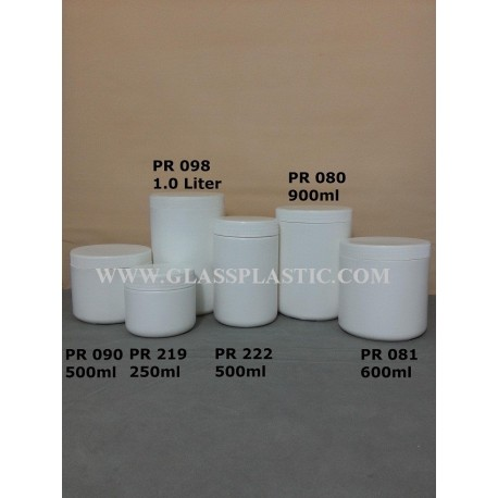 Wide Mouth HDPE Container: 250ml to 1.0 Liter