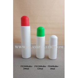 HDPE Roller Bottle: 60ml, 120ml & 200ml