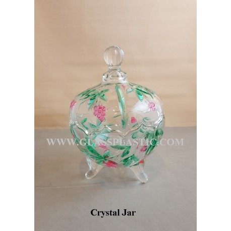 Crystal Jar with Color