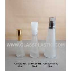 Cosmetic Glass Bottle - 30ml to 120ml (Cone Shape)