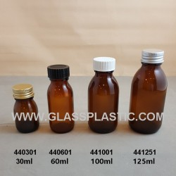 Amber Syrup Bottle - 44x-1 Series