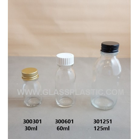 Clear Syrup Bottle - 30ml - 200ml