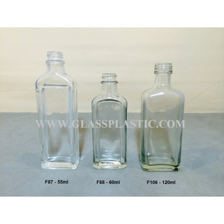 Traditional Square Glass Bottle
