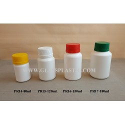 Plastic Tablet HDPE Bottle - 80ml to 180ml
