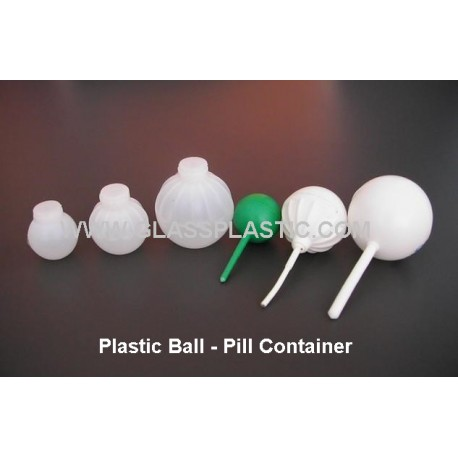 Plastic Ball Pill Container