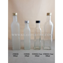 Square Glass Bottle - 500ml & 250ml