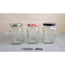 Square Glass Jar - 300ml