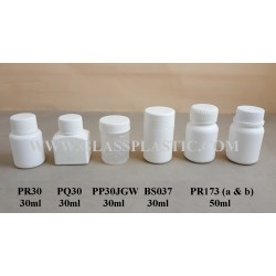 Plastic Tablet Bottle -30ml & 50ml