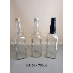 Square Glass Bottle - 750ml