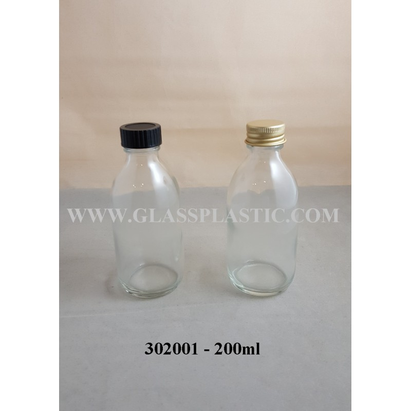Clear Syrup Bottle - 30ml - 200ml - Glass & Plastic Packaging Sdn Bhd
