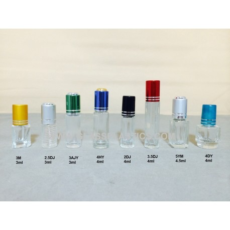 Perfume roller bottle - 3ml and 4ml