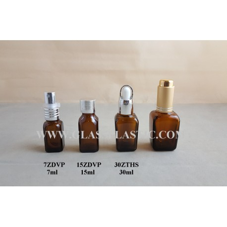 Square Essential Bottle : 7ml, 15ml, 30ml