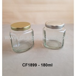 180ml Sqaure Glass Jar with Curve Edges