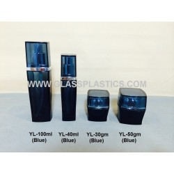 YL Series - Square Bottle & Jar (Blue)