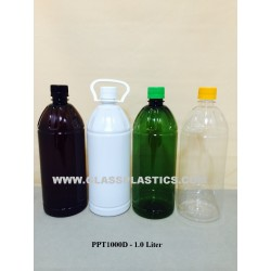 PET Plastic Bottle - 1.0 Liter