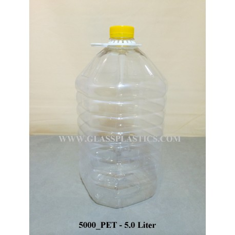 PET Plastic Bottle - 5.0 Liter