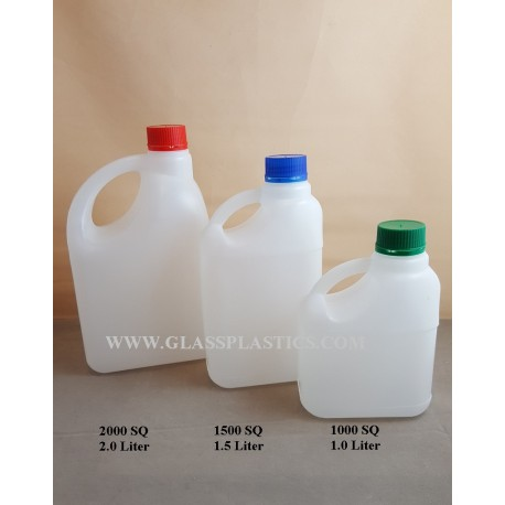 Square HDPE Container: 1.0 Liter to 2 Liter