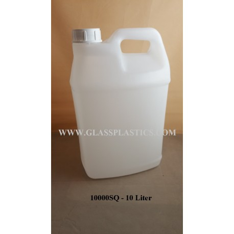 Square HDPE Container: 10 Liter