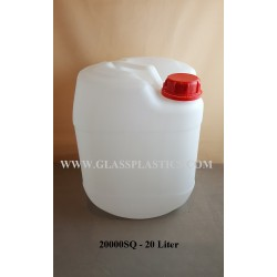 Square HDPE Container: 20 Liter