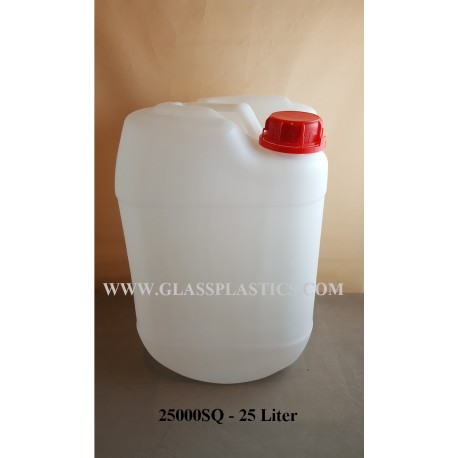 Square HDPE Container: 25 Liter