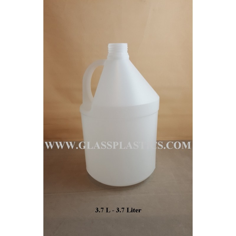 Round Hdpe Container 3 7 Liter Glass Amp Plastic