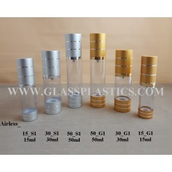 Airless Pump - Gold & Silver Stripe Line